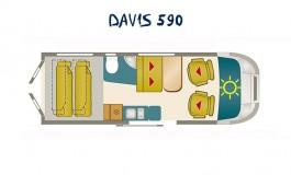 Karmann Mobil Davis 590  - piantina
