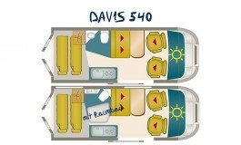 Karmann Mobil Davis 540 - piantina
