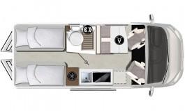 Karmann Mobil Davis 620 - piantina