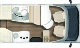 Burstner Travel Van T 620 G - piantina