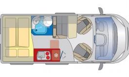Globecar Summit 540 Prime - Fiat - piantina