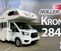 Roller Team Kronos 284 M - Un mansardato spazioso, ben accessoriato, con letti gemelli in coda e garage