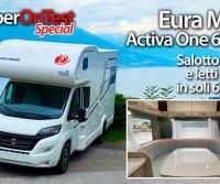 Eura Mobil Activa One 650 HS - Mansardato di soli 6,5 metri, con letti gemelli, grande salotto in coda e doppio pavimento