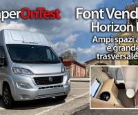 Font Vendôme Horizon H300 - Un van alternativo, con ampi spazi abitabili e grande bagno trasversale in coda