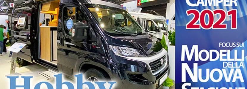Novità Camper 2021: Hobby, i furgonati si aggiornano e nascono nuovi modelli profilati e mansardati