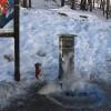 Area sosta camper Parcheggio del Breuil, Il carico acqua, disponibile anche in inverno, 28/07/17