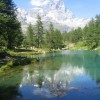 Area sosta camper Parcheggio del Breuil, Il lago Blu, poco a valle rispetto all'area di sosta, 28/07/17