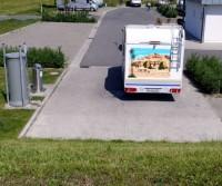 Reisemobil Parkplatz Doppelschleuse