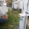 Area sosta camper Venezia Porta Ovest, colonnine elettriche ben distribuite nell'area, 01/10/17